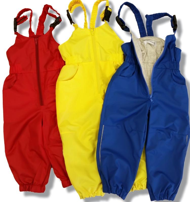 Весенние и летние полукомбинезоны для мальчика и девочки, подклад флис или хлопок, рост 74-110см, цена 1470руб.